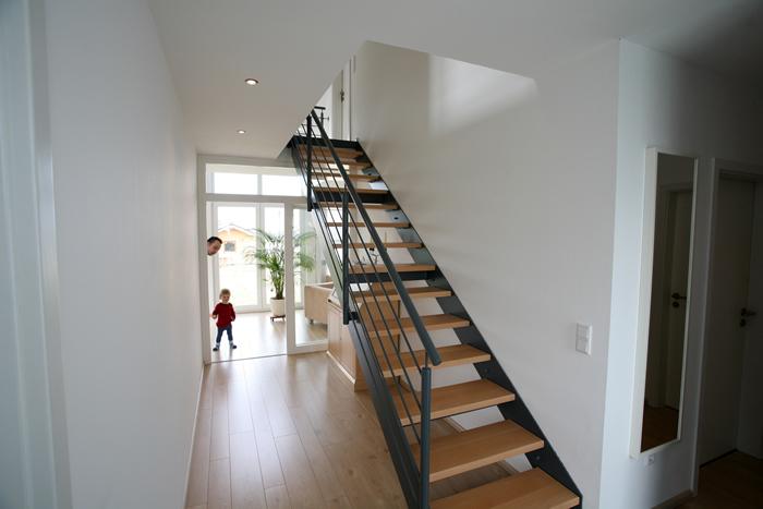 Geradläufige Treppe treppen